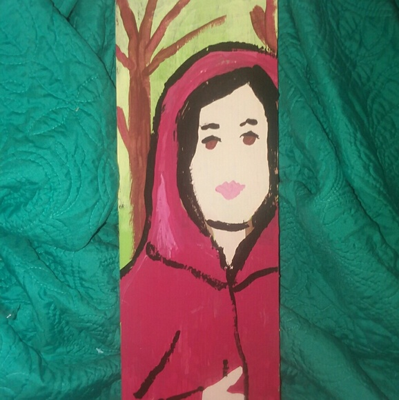 No Wolves Please Little Red Riding Hood Wood Art Boutique